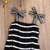 KAI- Striped, monochrome bodysuit