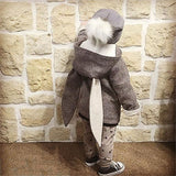 Marty - Bunny Eared Duffel Coat Style Jacket