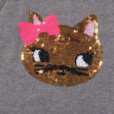 Girl's Sequin Cat Outfit Set