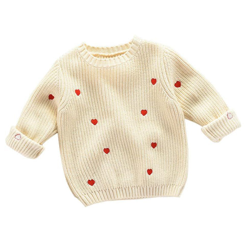 ISLA - Heart knit jumper