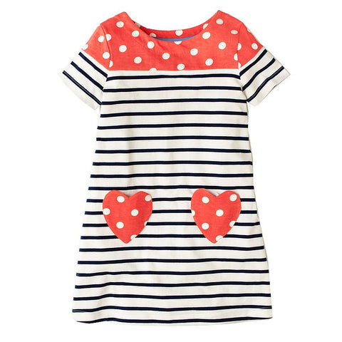 LEXI - Striped heart pocket dress