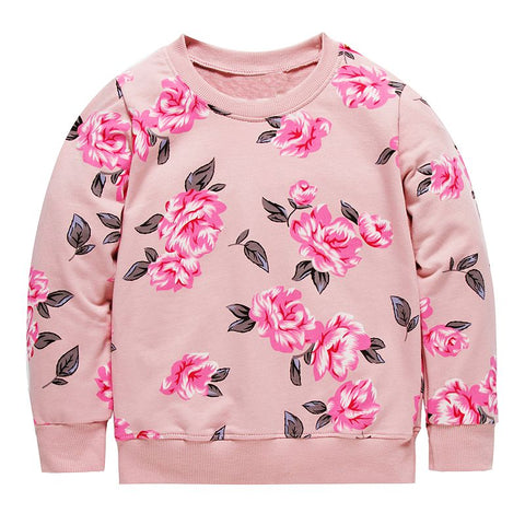 Rose - Lightweight flower print sweatshirt