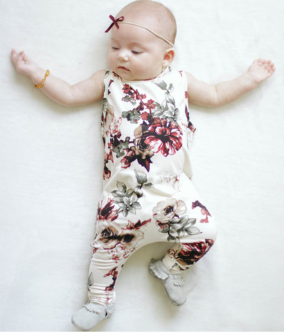 ARIANNA - Red rose romper