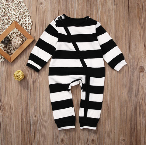 JOHNNY Stripe footless babygrow
