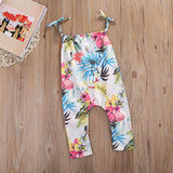 HALLIE - Tropical print romper