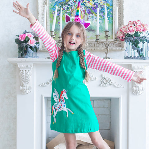 Leah - A-line Unicorn Dress