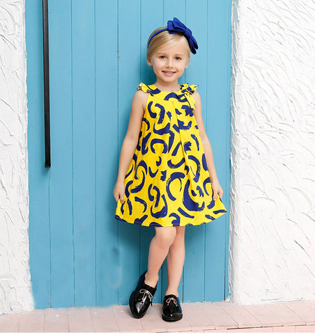 Riley - Yellow A-line dress