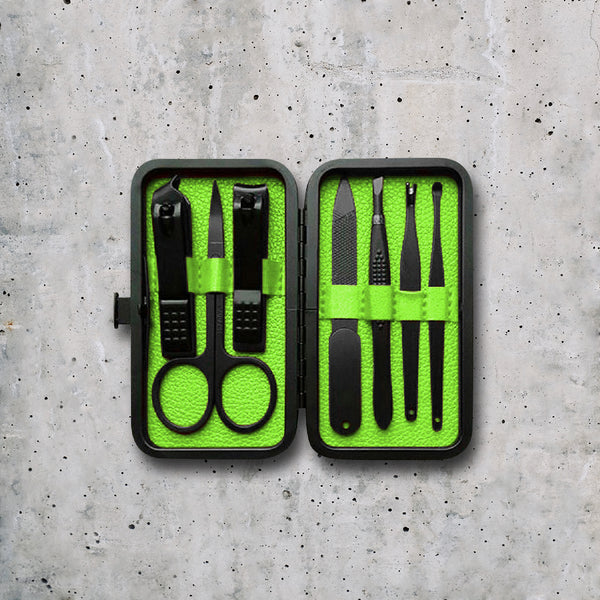 Luxury Manicure Kit - Lime Green