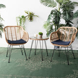 Flaxen Wicker Set