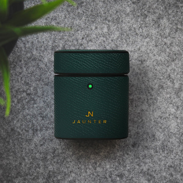 Forest Green Grain AirPod Case