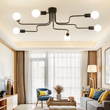 Ross Modern Pipe Semi Flush Mount