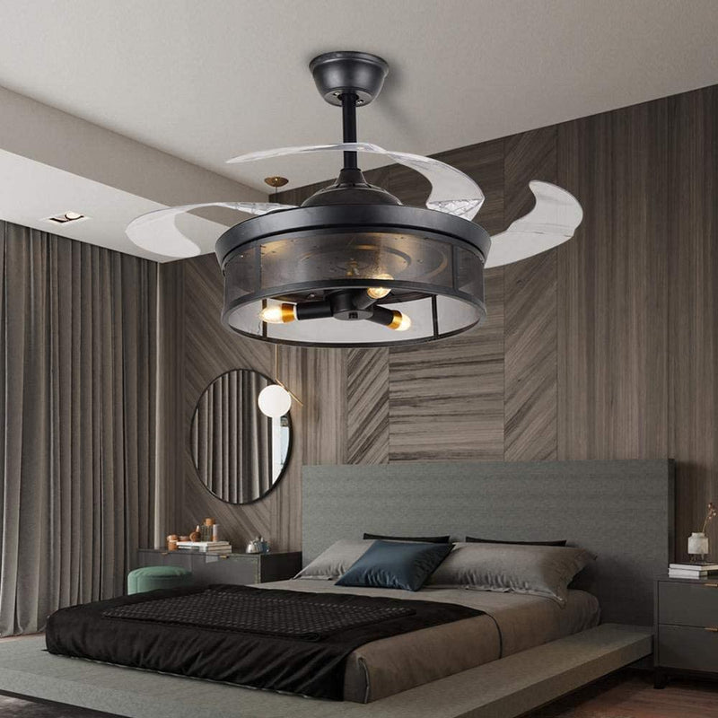 "42"" Lazlo 4-Blade Retractable Ceiling Fan with Light"
