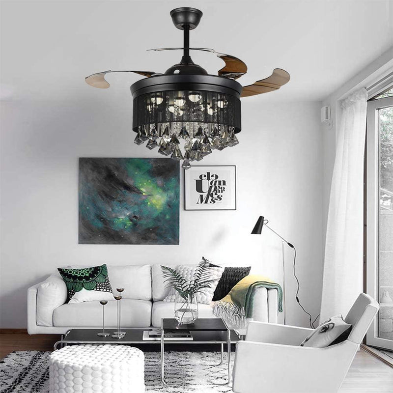 "42"" Bijou 4-Blade Retractable Ceiling Fan with Light"