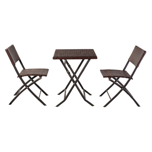 Jackson Rattan Chair Three-Piece Set