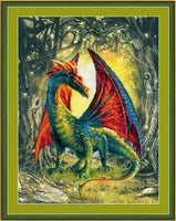 Riolis Cross Stitch Preprinted - Forest Dragon