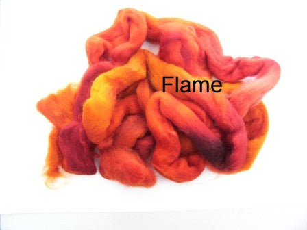 Tussah Silk - Spaced Dyed - Flame