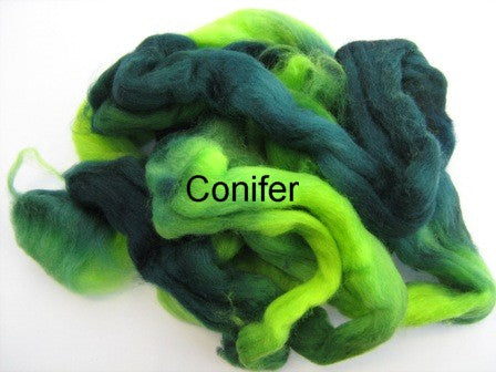 Tussah Silk - Spaced Dyed - Conifer