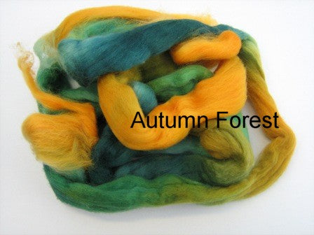 Tussah Silk - Spaced Dyed - Autumn Forest