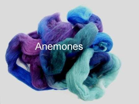 Tussah Silk - Spaced Dyed - Anemones
