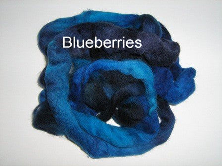 Tussah Silk - Spaced Dyed - Blueberries
