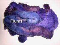 Tussah Silk - Spaced Dyed - Plums