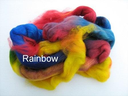 Tussah Silk - Spaced Dyed - Rainbow