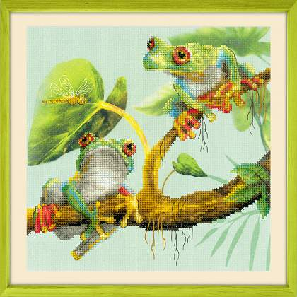 Riolis Cross Stitch Preprinted - Frogs