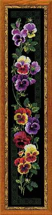 Premium Riolis Cross Stitch - Pansy