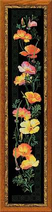 Premium Riolis Cross Stitch - Californian Poppies
