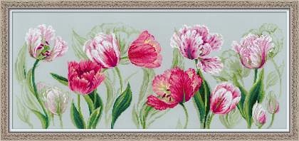 Premium Riolis Cross Stitch - Spring Tulips