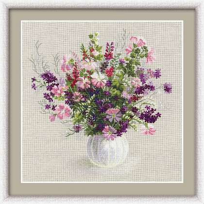 Riolis Cross Stitch - Summer Bouquet