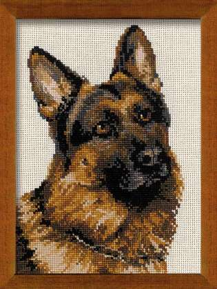 Riolis Cross Stitch - German Shepherd