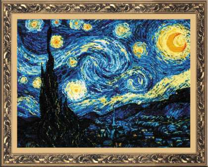 Riolis Cross Stitch - Starry Night after Van Gogh's Painting