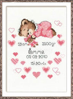 Riolis Cross Stitch - Birth Notice Girl