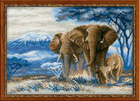 Riolis Cross Stitch - Elephants in the Savannah