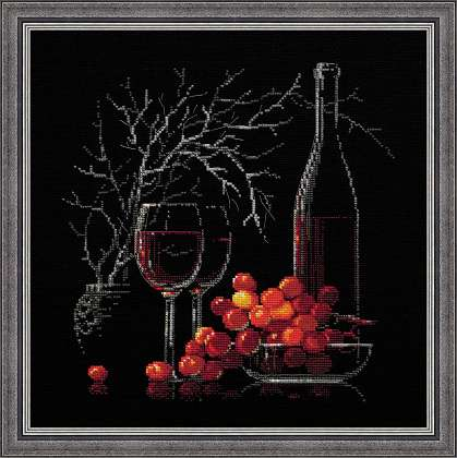 Riolis Cross Stitch - Still Life with Red Wine
