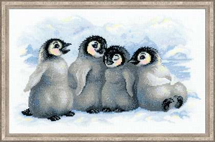 Riolis Cross Stitch - Funny Penguins