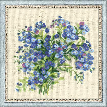 Riolos Cross Stitch - Forget Me Nots