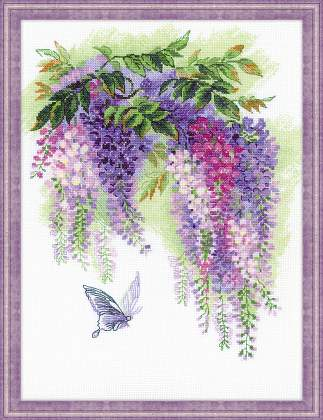 Riolos Cross Stitch - Wisteria