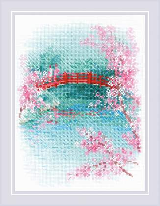 Riolos Riolos Cross Stitch - Sakura, Bridge