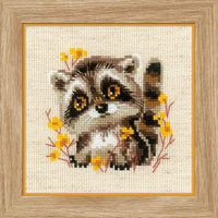 Riolos Cross Stitch - Little Raccoons