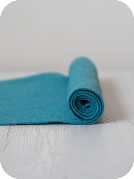Thermoformable Wool Felt - Turquoise