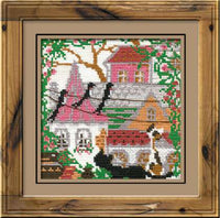 Riolis Cross Stitch - City and Cats Summer