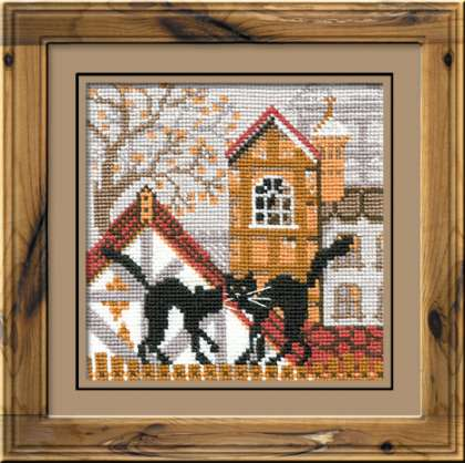 Riolis Cross Stitch - City and Cats Autumn