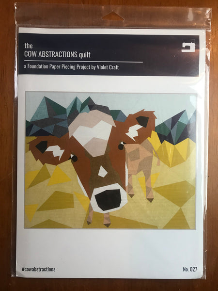 Farmyard Abstractions Quilt Pattern - The Cow by Violet Craft