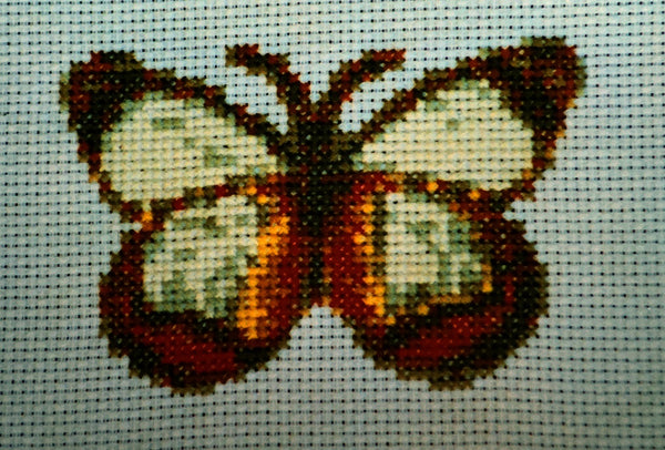 Uniquely Yours April Butterfly Cross Stitch Chart