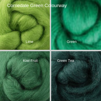 Corriedale Four Pack - Green