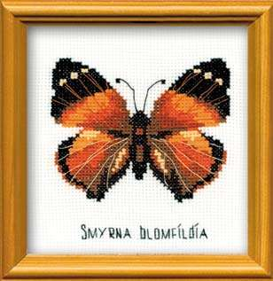Riolis Cross Stitch - Nymphalidae Butterfly