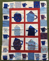 Tea Pot Quilt made from a pattern by Jan Mullins.