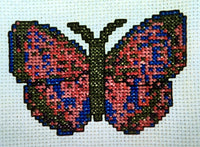 Uniquely Yours January Butterfly Cross Stitch Chart